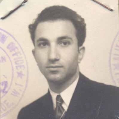 Aliens registration card, c. 1951