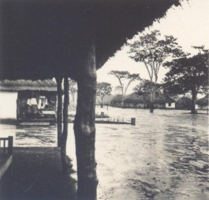African landscape in a flood