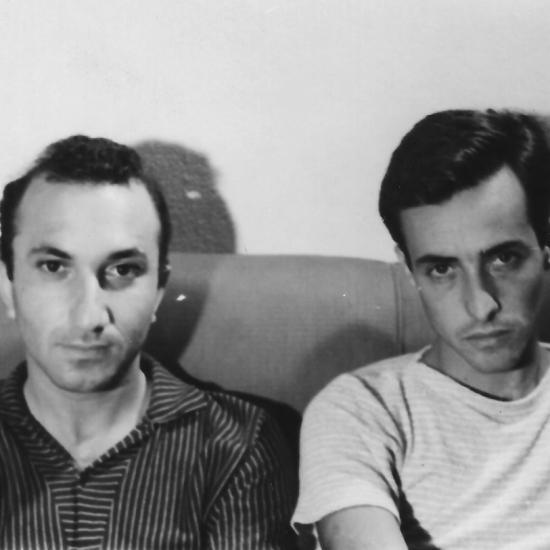 With Joaquin Pedro de Andrade, Rio de Janeiro, 1959