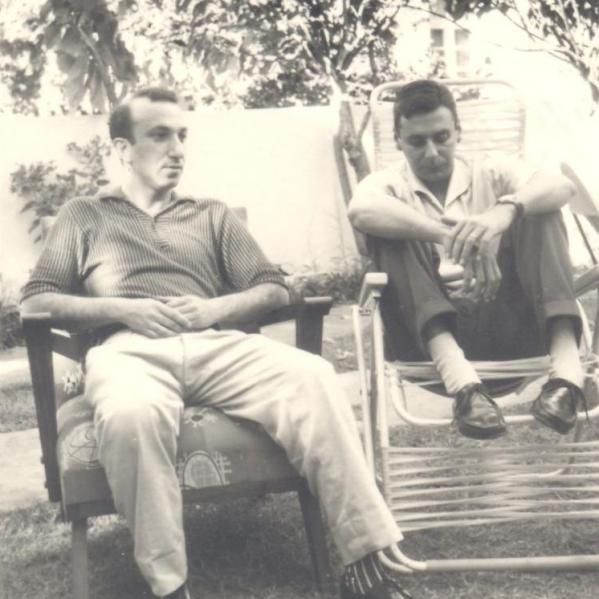 With Rui Knopfli, Mozambique, 1963