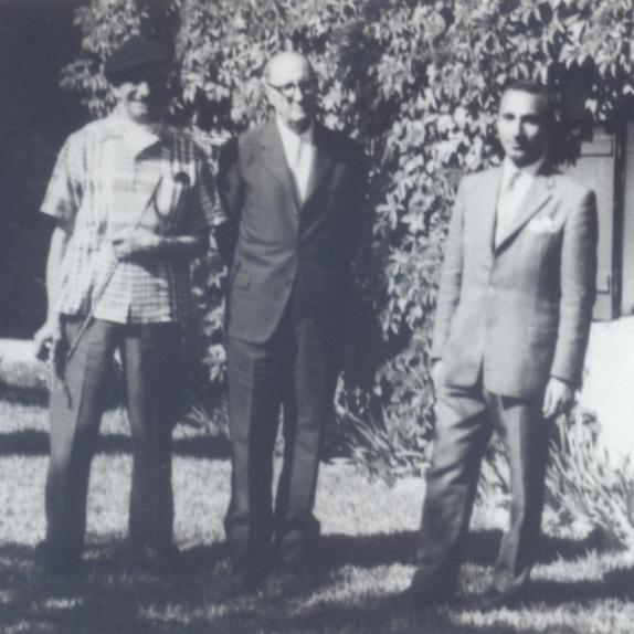 With Almada Negreiros and Jorge Guillén, Quinta de Bicesse, 1962