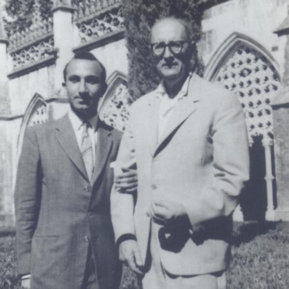 With Jorge Guillén, Mosteiro da Batalha, 1962