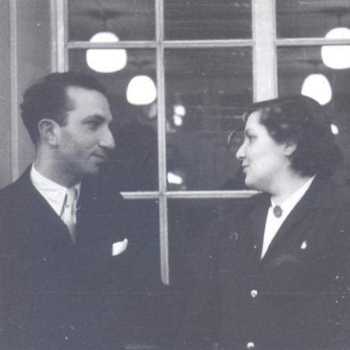 With Luzia Maria Martins, London, c. 1952