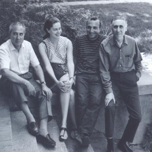 With Pablo Beltrán de Heredia, Agnes Moncy and Ricardo Gullón, Austin, c. 1969