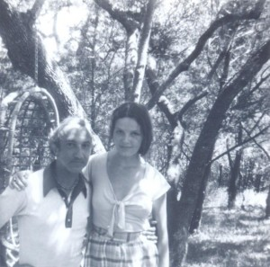 With Sharon Wevill, Austin, c. 1975