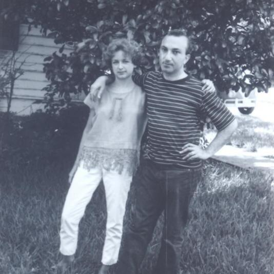 With Harriett Watts, Austin, c. 1969
