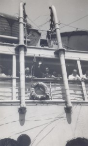 Alberto de Lacerda leaving Mozambique for Lisbon, 1946