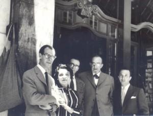 With Fernando and Maria Emília Azevedo, José-Augusto França and António Pedro, Lisbon