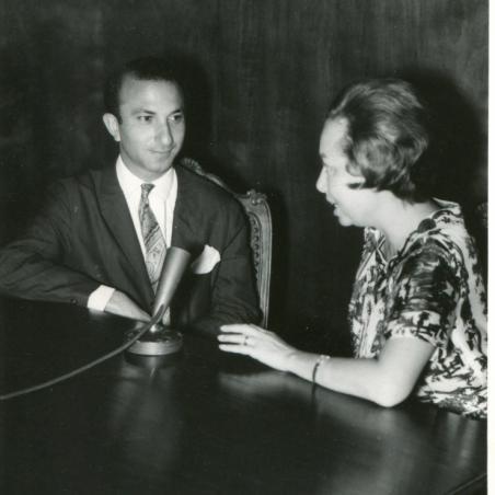 With Manuela Arraiano, Rádio Clube de Moçambique, 1963