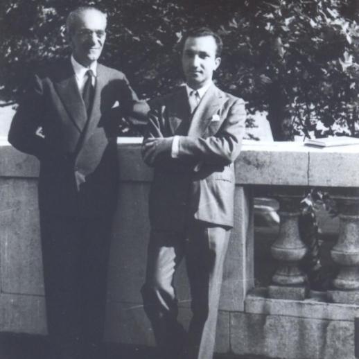 With Almada Negreiros, Lisbon, c. 1962