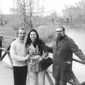 With Carmen and Haroldo de Campos, Boston, Massachusetts, early 1970s