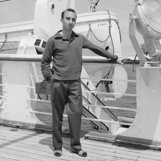 On board the Andes, sailing to Brazil, October 1959