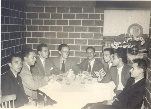 With Távola Redonda group, Adega do Machado, Lisbon, 1950