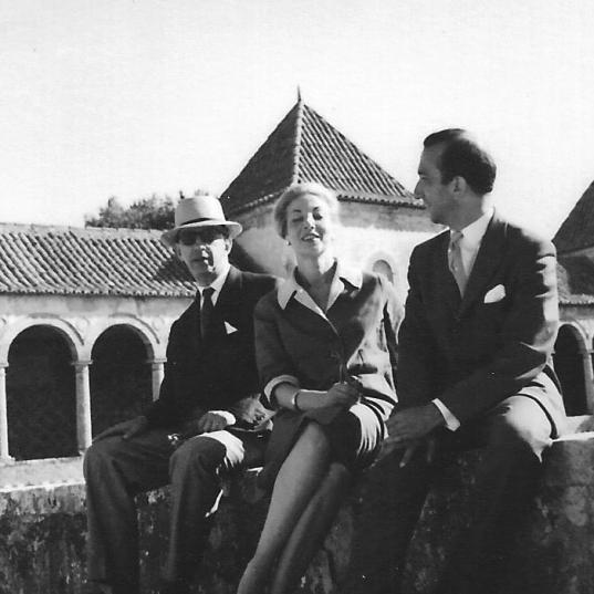 With Murilo Mendes and Saudade Cortesão, Portugal, 1962
