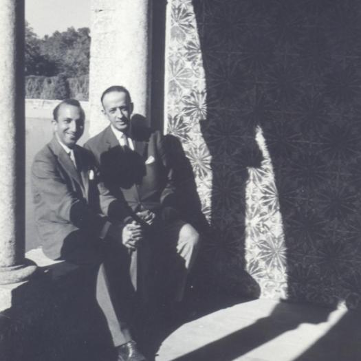 With Murilo Mendes, Quinta da Bacalhoa, Azeitão, 1962