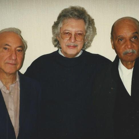 With Luís Amorim de Sousa and José Craveirinha, London, 1997