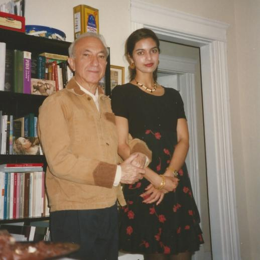 With Jhumpa Lahiri, Boston, 1996