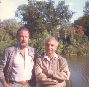 With Christopher Middleton, Battersea Park, 1985