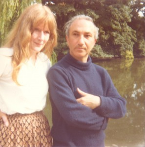 With Anne Beresford, Battersea Park, 1978