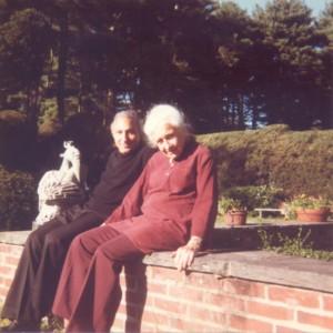 With Hester Pickman, Boston, 1980