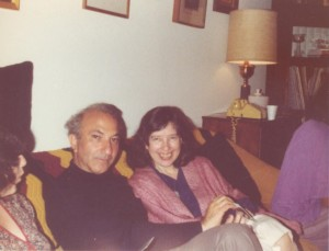 With Celia Gilbert, Boston, c. 1980