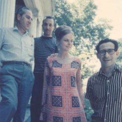 With Pablo Beltrán de Heredia and Elizabeth and José Sanchez, Austin, c. 1969
