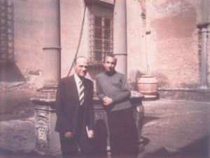 With Umberto Morra, Palazzone Passeggini, Cortona, Italy, 1969
