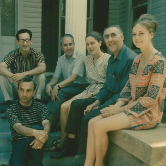 With José Sanchez, Pablo Beltrán de Heredia, Agnes Moncy, Ricardo Gullón and Elizabeth Sanchez, Austin, c. 1969
