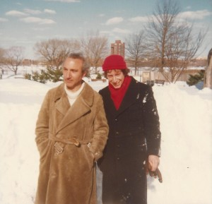 With Dennis Costa, Boston, 1978