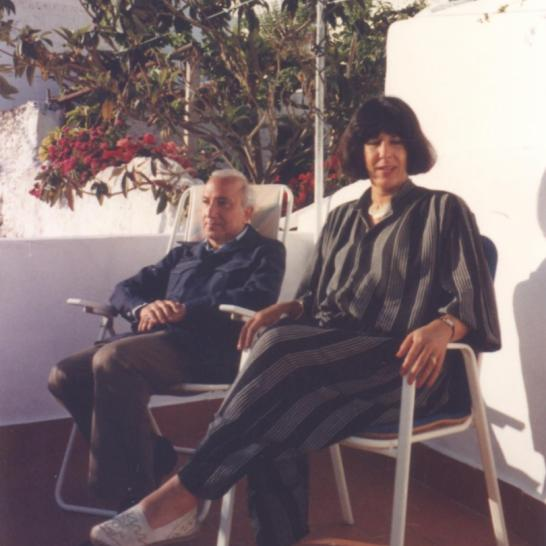 With Bettina Iffland, Malaga, 1988