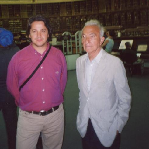 With Fernando Alves, British Library, 2005