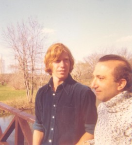 With Steve Kubenka, Boston, Massachusetts, 1972
