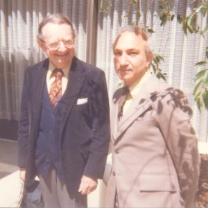 With I.F. Stone, Washington, DC, 1977