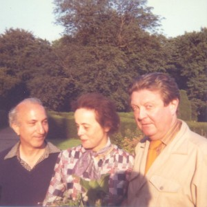 With Penelope and Raresby Sitwell, Renishaw, 1981