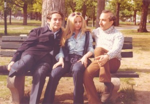 With Octavio and Marie Jo Paz, Cambridge, Massachusetts, 1972