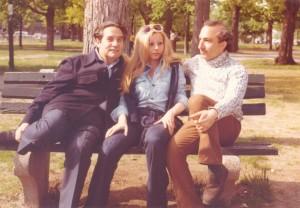 With Octavio and Marie Jo Paz, Cambridge, Massachusetts, 1972