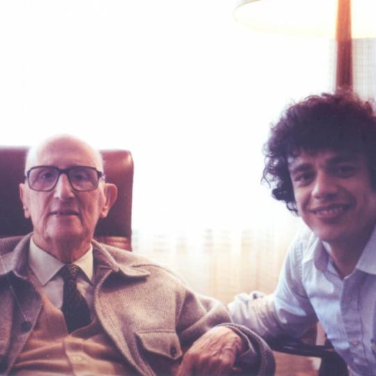 Jorge Guillén and Tino Villanueva, Boston, 1970s