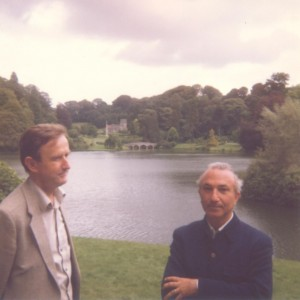 With John Mills, Stourhead Park, c. 1982