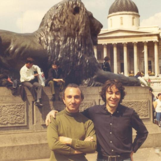 With Ruben Garcia, Trafalgar Square, London