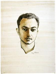 Edgar Ritchard (Australia, 1908-1984) Portrait of Alberto de Lacerda, c. 1954