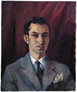 Alfons Purtscher (Austria, 1885-1962) Portrait of Alberto de Lacerda, 1956