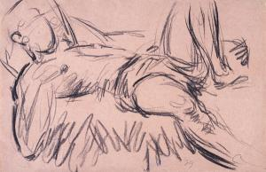 Duncan Grant (UK, 1885-1978) Reclining figure, c. 1950