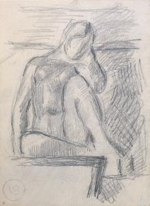 Vanessa Bell (UK, 1879-1961) Nude, c. 1925