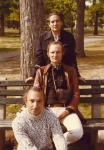 With Octavio Paz and Nathaniel Tarn, Cambridge, Massachusetts, 1972