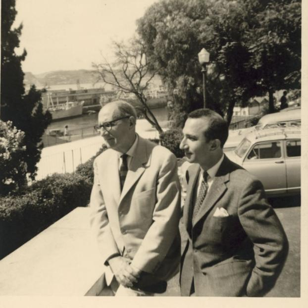 With Jorge Guillén, Lisbon, 1962