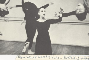 Inscribed photograph of Martha Graham