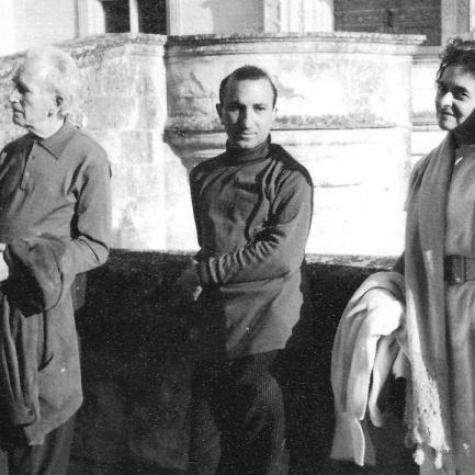 With Arpad Szenes and Vieira da Silva, Chataux do Loire, France, 1964