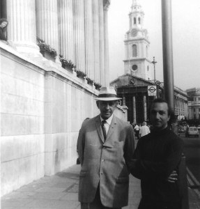 With Murilo Mendes, London, 1970
