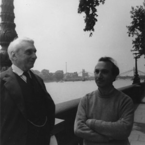 With Jean Hugo, London, early 1970s