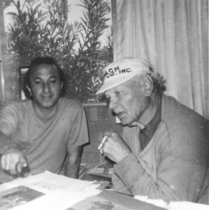 With Eddie Arning, Austin, c. 1970